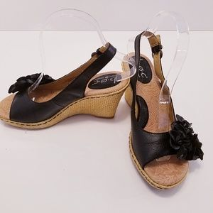 boc espadrille sandals with leather flower
